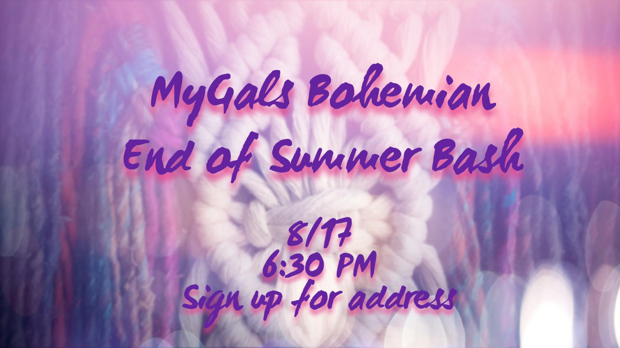 MyGals Bohemian End of Summer Bash